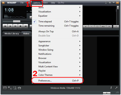 How to set up Input with SHOUTcast DSP Plug-in