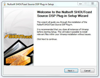 The Procedure to install SHOUTcast DSP Plugin for Winamp